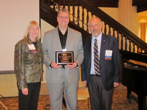 Janis Peterson, MASTA President-Elect Dan Scott, MASTA Teacher of the Year Tim Staudacher, MASTA President