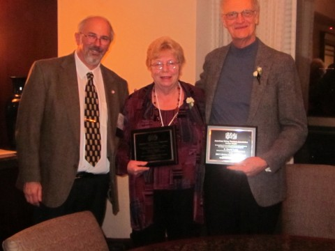 Lifetime Achievement Award winners: Marilyn Kesler and E. Daniel Long
